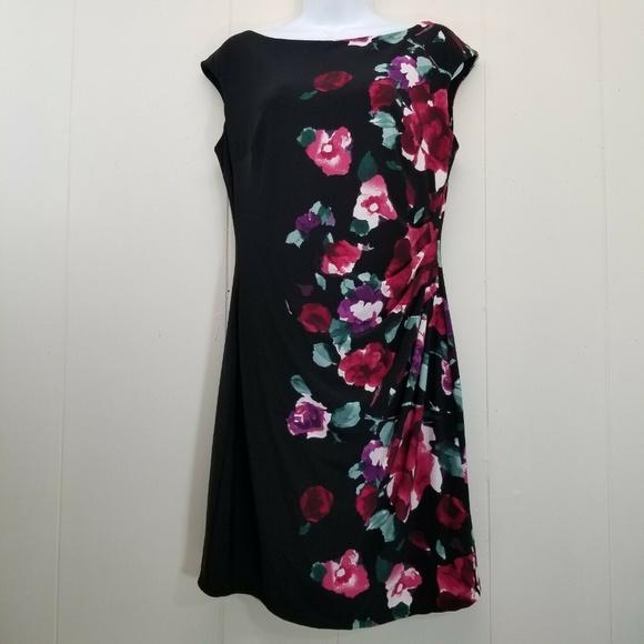 Lauren Ralph Lauren Dresses & Skirts - Ralph Lauren 10 Sheath Dress Wiggle Black Floral
